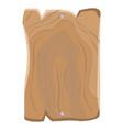 wooden blank rectangular board hung metal nails vector image