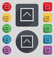 Direction arrow up icon sign A set of 12 colored vector image