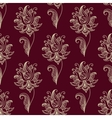 Paisley seamless floral pattern vector image