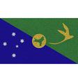 Flags Christmas Island on denim texture vector image