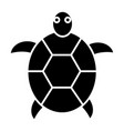turtle icon black sign on vector image