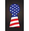 US flag keyhole vector image