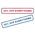 10 Percent Off Everything Rubber Stamps vector image vector image