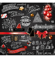 2014 Christmas Vintage typograph design elements vector image vector image