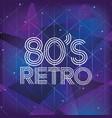 80s retro style word vector image