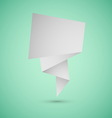 Abstract origami speech background on green vector image vector image