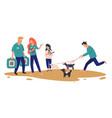 animal shelter or adoption center choosing pet vector image vector image