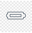 battery concept linear icon isolated on vector image