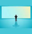 big blank screen vector image vector image