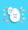 blue template poster eggs vector image