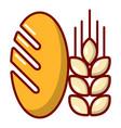 bread wheat icon cartoon style vector image