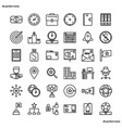 business management outline icons perfect pixel vector image vector image
