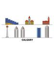 canada calgary flat landmarks vector image vector image