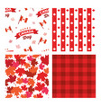 canada seamless patterns independence day vector image vector image