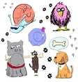 Cartoon animal characters colorful set vector image vector image