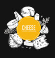 cheese collection 4 vector image vector image
