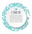 circle infographic bright blue dotted line under vector image vector image