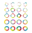 Color circle set vector image