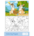 colorful template and colorless contour image of vector image vector image