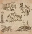 Croatia Hand drawn pack vector image