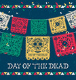 day dead mexican papercut skull card vector image vector image