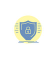 defence firewall protection safety shield glyph vector image