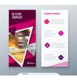 dl flyer design pink template dl flyer banner vector image vector image