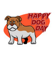 dog day vector image