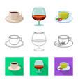 drink and bar symbol set vector image