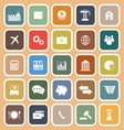 Economy flat icon on orange background vector image vector image
