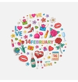 February set in circle vector image vector image