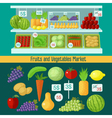 Fruits and Vegetables Market Healthy Eating vector image