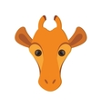 giraffe cartoon icon vector image