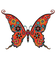 gorgeous butterfly coloring vector image