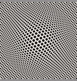 halftone bloat effect optical abstract geometric vector image vector image