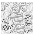 How to Find Day Spas in Your Area Word Cloud vector image vector image