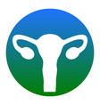 human body anatomy uterus sign white icon vector image