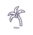 icon of palm on a white background vector image vector image