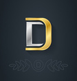 Letter D Template for company logo with monogram vector image vector image