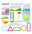logic kid combine picture game printable template vector image vector image
