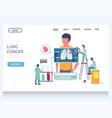 lung cancer website landing page design vector image