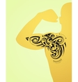 Maori body art tattoo vector image vector image
