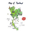 map thailand watercolor vector image