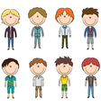 Modern trendy boys vector image