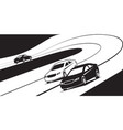 new cars on test drive track vector image vector image