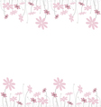 pink flowers1 vector image