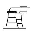 power plant icon outline style vector image