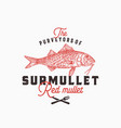 purveyors surmullet abstract sign vector image vector image
