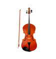 red violin isolated of fiddle vector image