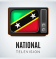 round icon of federation of saint kitts and nevis vector image vector image